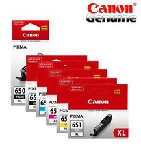 6 pcs  Genuine CANON 650XL 651XL INK SET(1X 650XL BK+1 X EACH 651XL BK,C,M,Y,GY)
