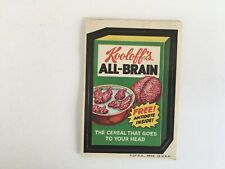 1973 Topps Wacky Packages 2nd Series All Brain Cereal