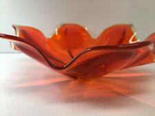 vintage orange Glass Bowl
