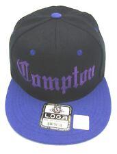 COMPTON Snapback Hat Los Angeles Cap South Central LA City Black Purple New