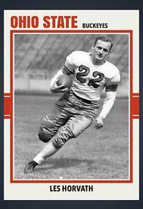 LES HORVATH OHIO STATE BUCKEYES 1944 HEISMAN CUSTOM MADE ART COLLEGE LEGEND CARD