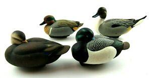 Lot of 4 Jett Brunet Ducks Unlimited Mini Decoys 2001 2003(2) 2004