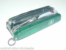 New Victorinox Swiss Army 91mm Knife GREEN CYBERTOOL LITE  & Pouch 1.7925.T4L