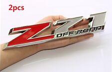 """2x OEM 10"""" Big Z71 OFF ROAD Emblems for GM Silverado Sierra Truck Chrome we  1Yu"""