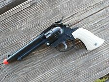 TEXAS Mustang Toy Cap Gun Leslie-Henry Wild West Toys Black plated USA MADE