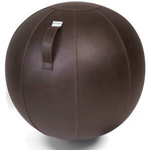 Vluv Veel Lederimitat-Sitzball Durchmesser 70-75cm Mokka / Dunkelbraun