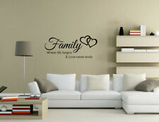Family where life begins & love never ends Wall Quotes Wall Stickers UK 32e