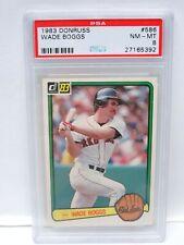 #586 WADE BOGGS RC 1983 83 DONRUSS  PSA 8 NM-MT BOSTON RED SOX BASEBALL CARD