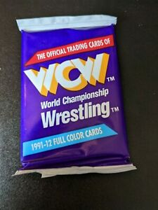 1991 Impel WCW Official Trading Cards 1 Pack w/ 12 Full Color Cards Sting,Flair