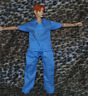 "Dr Scrubs for 1/6 scale 12"" Female action figure.Hot Toys Dragon BBI Medic Nurse"