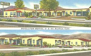 VIntage Postcard-Buellton Motel, U.S.101, Buellton, CA