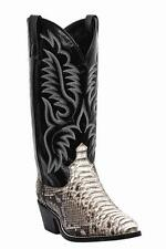 NEW LAREDO MENS GENUINE PYTHON BLACK / WHITE SNAKESKIN COWBOY BOOTS 6751 NIB