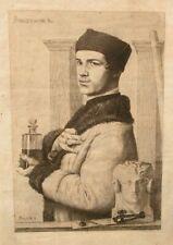 ANCIENNE GRAVURE EAU FORTE PAUL ADOLPHE RAJON PORTRAIT DE FELIX BRACQUEMOND