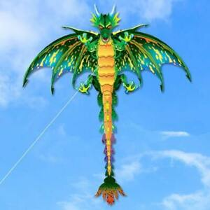 Big Green Pterosaur Kite 3 Dimensional Outdoor Flying For Kids and Adults