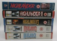 Highlander, Highlander 2, Highlander 3, The Gathering, Freefall - VHS