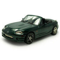 1:43 Mazda MX-5 Convertible Model Car Diecast Vehicle Dark Green Collection Gift