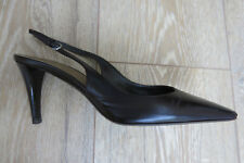 BALLY Made in Italy BROWN Leather High Heels Slingbacks Sandals 35.5 UK 2.5/3 VG