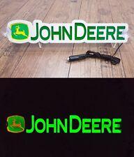 3D 12V LED Leuchtschild für JOHN DEERE Traktor Fahrer Grün Logo Schild Zubehör