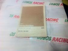CATALOGO RICAMBI ORIGINALE HARLEY DAVIDSON SX 175 SX 250 1974 SPARE PARTS