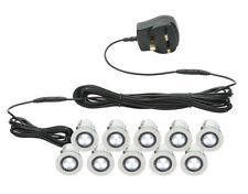 Set De 10 - 30mm IP44 Ronda LED blancos de terrazas / Tierra / Pedestal Kit De Luz