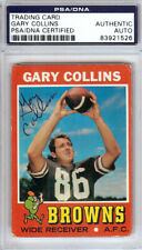 Gary Collins Autographed Signed Auto 1971 Topps Card #75 Browns PSA/DNA 83921526