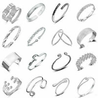 Variety 925 Silver Plated Bangle Chain Bracelet Cuff Wristband Fashion Jewelry