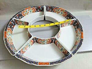 Vintage IMARI Porcelain Tray Serving Bowls JAPAN 15'' W~ 1.75'' T