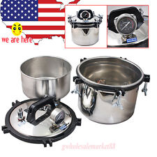2017! 8L Autoclave Dental stainless steel Pressure Steam Sterilizer 110V/220V