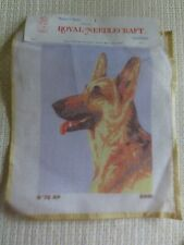 ROYAL PARIS Royal Needlecraft N002 SHEPHERD DOG HEAD NEEDLEPOINT TAPESTRY Canvas