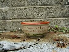 More details for vintage / antique torquay motto ware bowl - man in the kitchen - ceramic pottery