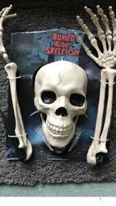 Halloween Skeleton Bones/Lawn Breaker With Ground Stakes Dec/Prop