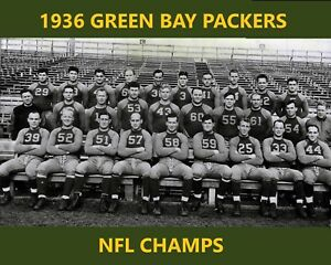 1936 GREEN BAY PACKERS 8X10 TEAM PHOTO FOOTBALL NFL PICTURE NFL CHAMPS