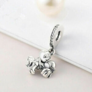 Pandora Silver Wedding Bride Dangle Charm, Sterling Just Married Couple + Bag