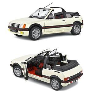 1/18 Solido Peugeot 205 CTI MK1 Cabriolet Blanc 1989 Neuf Livraison Domicile