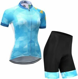 Ladies Cycling Jersey Set 2021 Trousers short Sleeve Seat Cushion Bicycle Race