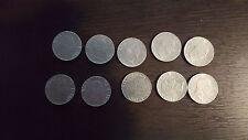 Regno d'Italia 50 centesimi V.E.III lotto di 10 monete vari anni 39,40,41