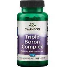 Swanson Triple Boron Complex 3 mg 250 Caps, Helps build Strong Healthy Bones