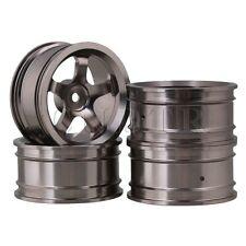 4 pcs 52 x 26mm Grey RC 1:10 Circular Rim 5 Spoke On Road Racing Car Wheel Rims