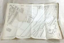 1890 Antik Map Of Batley West Yorkshire Viktorianisch Glanz Mühle Abwasser Werke