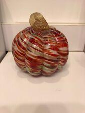 Large Hand Blown Glass Pumpkin