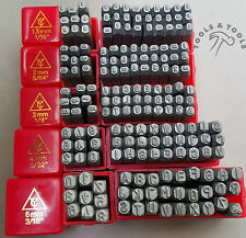 Jewelry Making Alphanumeric Metal Punch Stamps Letters A-Z Numbers 0-9, 5 Sizes
