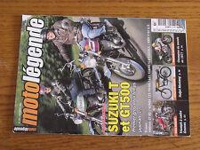 10µ Revue Moto Legende n°184 Suzuki T & GT500 Takazumi Katayama Bitza Robinet