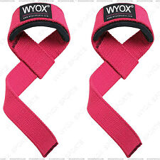 Wyox Weight Lifting Straps Padded Wrist Support Hand Bar Grip Hook Gym Gloves x2