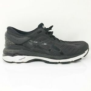 Asics Womens Gel Kayano 24 T799N Black Running Shoes Lace Up Low Top Size 8.5