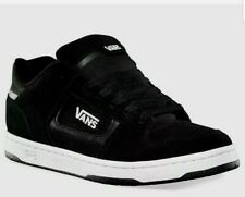 VANS DOCKET (Suede) Black White Skate Sneakers Casual Canvas Shoes MEN  7.0