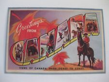 Vintage Greetings From Canada Post Card NEW