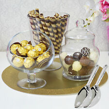 Candy Jars Lolly Buffet 3 x Jar Set 2 x Scoops Apothecary Wedding Party