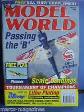 RCMW RC MODEL WORLD FEBRUARY 2000 PIONEER PLANS ARTHUR HOUGHTON LANCASTER
