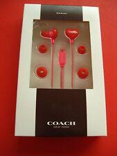 Coach Brand gift  woman teen designer earphones ear buds earbuds RETAIL TAG $48