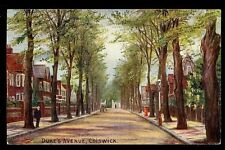 Middlesex CHISWICK Duke's Ave early artist drawn PPC
